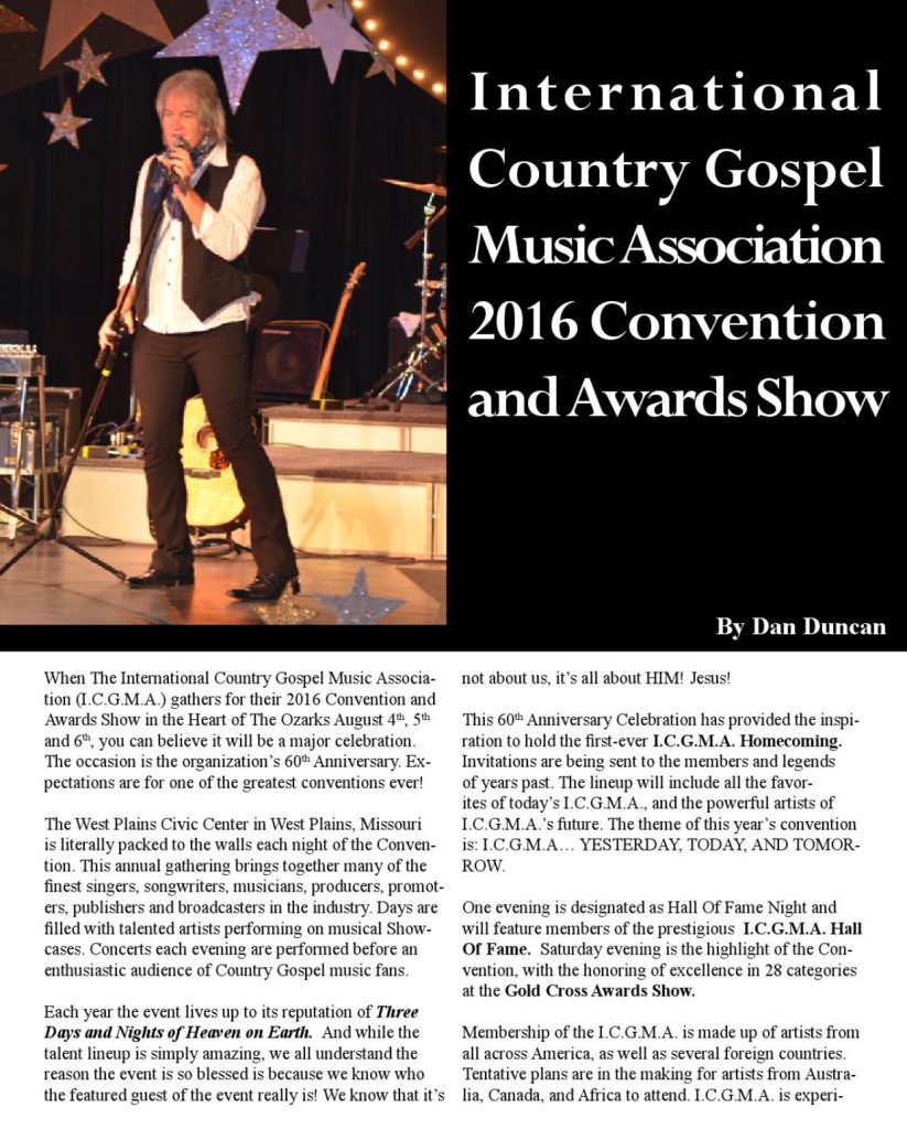 Did you read about the ICGMA 2016 Convention